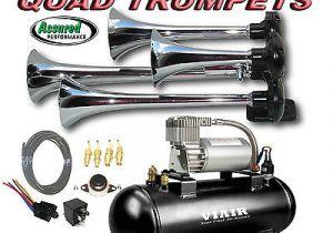 Horn Tech Train Horn Wiring Diagram Loud Quad Trumpet Truck Train Air Horn Kit Viair 275c 120psi Ez Install System Ebay
