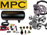 Horn Tech Train Horn Wiring Diagram Mpc Giant Quad Train Horn Kit for Trucks Cars Complete Kit 4 Chrome Train Horn Trumpets 12 Volt 200 Psi Air System with 100 Duty Cycle Air