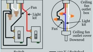 How to Wire A Ceiling Fan with Light Switch Diagram Wiring A Ceiling Fan and Light with Two Switches Diagram Elegant