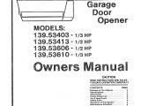 How to Wire A Genie Garage Door Opener Diagram Craftsman Garage Door Opener 139 53403 User Guide