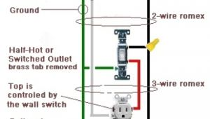 How to Wire An Outlet to A Switch Diagram How to Wire A Switched Outlet Half Hot Outlet