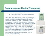 Hunter 44360 Wiring Diagram Hunter thermostat Training Ppt Video Online Download