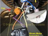Hunter Fan Capacitor Wiring Diagram Fix A Blown Ceiling Fan Capacitor Housekeeping Ceiling Fan Motor