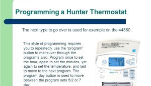 Hunter thermostat Wiring Diagram Hunter Programmable thermostat Manual Chuckleaver Co