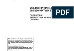 Ingersoll Rand 185 Air Compressor Wiring Diagram Manual De Operacion De Compresor Ingersoll Rand Gas