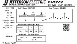 Jefferson Electric Buck Boost Wiring Diagram Ch 4719 Jefferson Transformer Low Voltage Transformer