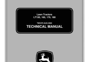 John Deere Lt160 Wiring Diagram John Deere Lt160 Lawn Garden Tractor Service Repair Manual