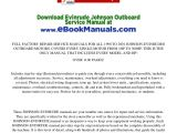 Johnson Outboard Wiring Diagram Pdf Johnson Evinrude Outboard Service Manual 1990 2001 Download