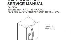 Kenmore Elite Refrigerator Wiring Diagram Kenmore 795 51832 51833 51839 Refrigerator Service and