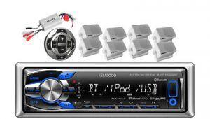 Kenwood Kmr M318bt Wiring Diagram Kmr M318bt Boat Mp3 Usb Pandora Bluetooth Player 4 Enrock Speakers