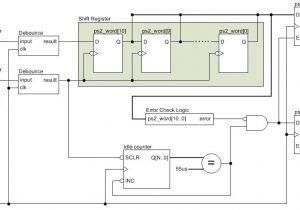 Keyboard Wiring Diagram Ps 2 Keyboard Interface Vhdl Logic Eewiki