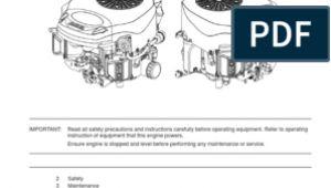 Kohler 7000 Series Wiring Diagram Kohler 7000 Series Shop Manual Carburetor Gasoline