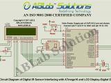 Lcd Display Wiring Diagram Digital Ir Sensor Interfacing with Avr atmega16 Microcontroller and