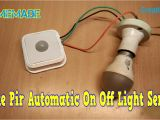 Led Autolamps Wiring Diagram How to Make Pir Automatic On Off Light Sensor at Home Youtube
