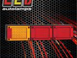 Led Autolamps Wiring Diagram Jumbo Tail Stop Light Lamp Indicator Led Trailer Tray