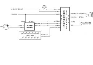 Led Driver Wiring Diagram Technical Bulletin Emergency Lighting and Ul924 Dmf Lighting