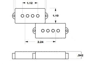 Leer Truck Cap Wiring Diagram Mojotone 70a S Clone P Bass Electric Guitar Pickup Set