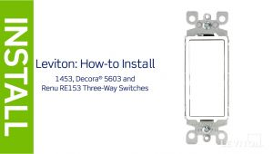 Leviton Double Switch Wiring Diagram Leviton Presents How to Install A Three Way Switch Youtube