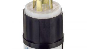 Leviton Nema 10 30r Wiring Diagram Leviton 30 Amp 125 250 Volt Locking Grounding Plug Black White 2711