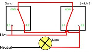 Light Wiring Diagram 2 Way Switch Two Way Light Switching Explained Youtube