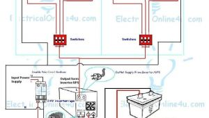 Lighting Inverter Wiring Diagram Ups Inverter Wiring Instillation for 2 Rooms with Wiring