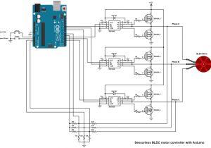 Multi Speed Motor Wiring Diagram Arduino Sensorless Bldc Motor Controller Diy Esc Circuit