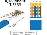 Network Rj45 Wiring Diagram Rj45 Pinout Wiring Diagrams for Cat5e or Cat6 Cable Nik S Foods