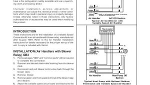 Nordyne Wiring Diagram Air Handler Wiring Diagram Variable Speed Air Handler nordyne