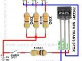 Npn Wiring Diagram Npn Transistor 2n3391 as A Switch Iamtechnical Com Npn
