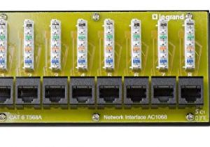 On-q Rj45 Wiring Diagram Amazon Com Legrand On Q Ac1068 8 Port Cat 6 Network Interface