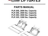 Palfinger Crane Wiring Diagram Interlift Plr Liftgate Parts Manual by the Liftgate Parts Co issuu