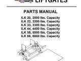 Palfinger Crane Wiring Diagram Palfinger Ilk 20 22 33 44 55 66 Liftgate Parts Manual by the