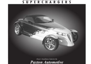 Paxton Switch 2 Wiring Diagram Plymouth Prowler Paxton Superchargers Manualzz Com