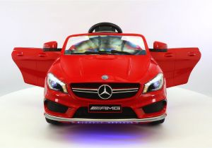 Pink Audi toddler Car Mercedes Cla45 Amg Ride On Car Fiery Red Power Wheels Remote