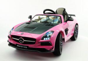 Pink Audi toddler Car Mercedes Sls Amg Final Edition 12v Kids Ride On Car with Parental