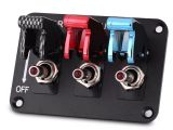 Race Car Switch Panel Wiring Diagram Us 24 22 2017 New 12v 3 Group toggle Switch Panel for Racing Car Carbon Fiber Red Blue Racing Car Switch Panel In Car Switches Relays From