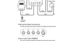 Raymarine Fluxgate Compass Wiring Diagram Making the Cable Connections Power Input Cable R08003 Raymarine