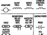 Rheostat Wiring Diagram Electrical Schematic Symbols Names and Identifications Motors