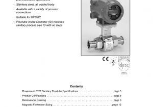 Rosemount 8732e Wiring Diagram Rosemount 8721 Sanitary Magmeter Flowtube Product Data Sheet