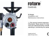 Rotork Iq Wiring Diagram Iq Range Installation and Maintenance Instructions