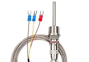 Rtd Transmitter Wiring Diagram Amazon Com Crocsee Rtd Pt100 Temperature Sensor Probe 3 Wires 2m