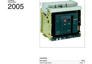 Shunt Trip Breaker Wiring Diagram Schneider Masterpact Nw Low Voltage Circuit Breakers Manualzz