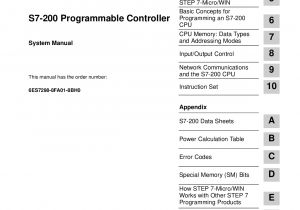 Siemens S7 200 Wiring Diagram Simatic S7 200 Programmable Controller Introducing the S7