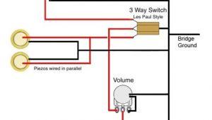 Single Pickup Bass Wiring Diagram Ted Crocker Wiring Diagram 1 Single Coil 2 Piezo 1 Vol 3 Way