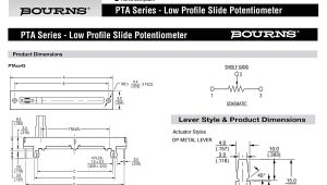 Slide Potentiometer Wiring Diagram Bourns 10k Ohm Slide Potentiometer 100mm Travel Single Linear Taper Carbon