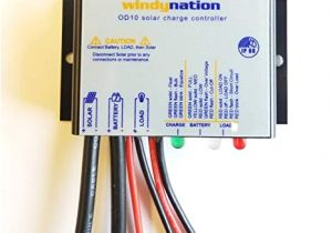 Solar Panel Charge Controller Wiring Diagram Amazon Com Windynation Waterproof 10a 12v solar Charge Controller