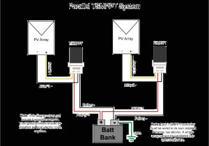 Solar Panel Charge Controller Wiring Diagram Parallel Charging Using Multiple Controllers with Separate Pv Arrays
