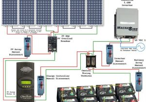 Solar Panel Charge Controller Wiring Diagram solar Power System Wiring Diagram Electrical Engineering Blog