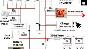 Solar Wiring Diagram for Rv Detailed Look at Our Diy Rv Boondocking Power System Rv Living