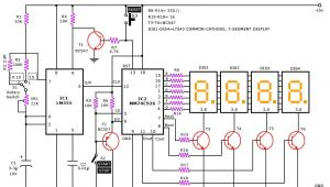 Solid State Timer Wiring Diagram A Digital Stop Watch or Digital Timer Circuit Schematic Built Around